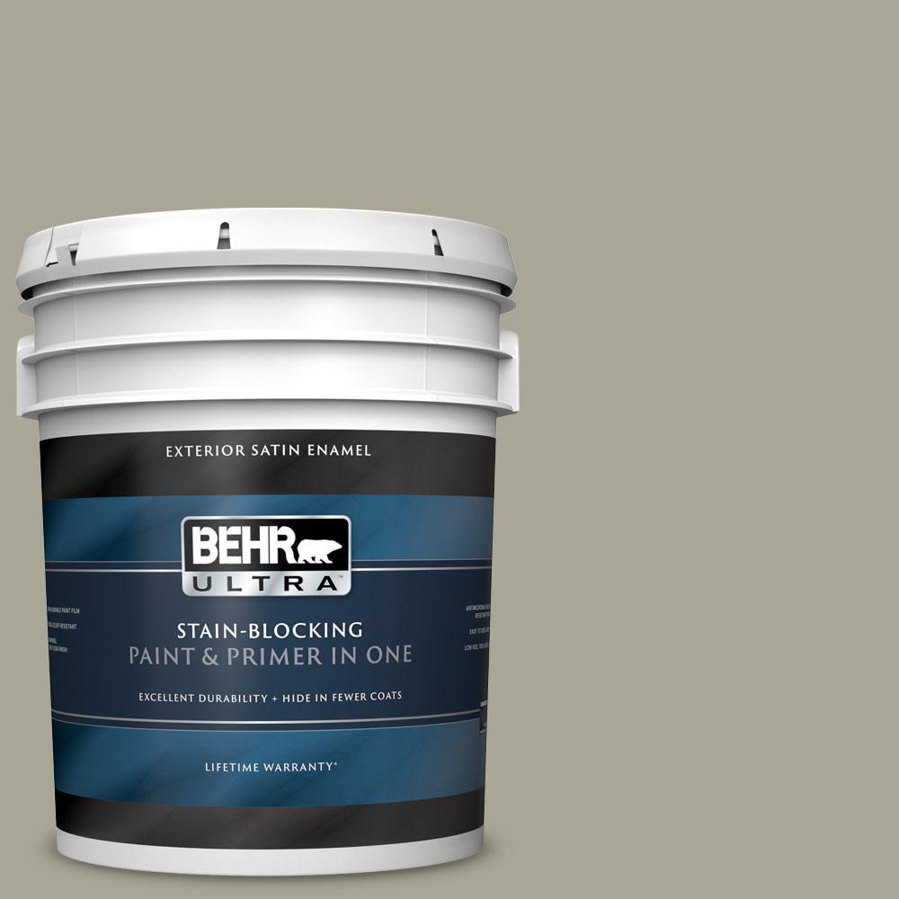 5 gal. #N350-4 Jungle Camouflage Satin Enamel Exterior Paint and Primer in One