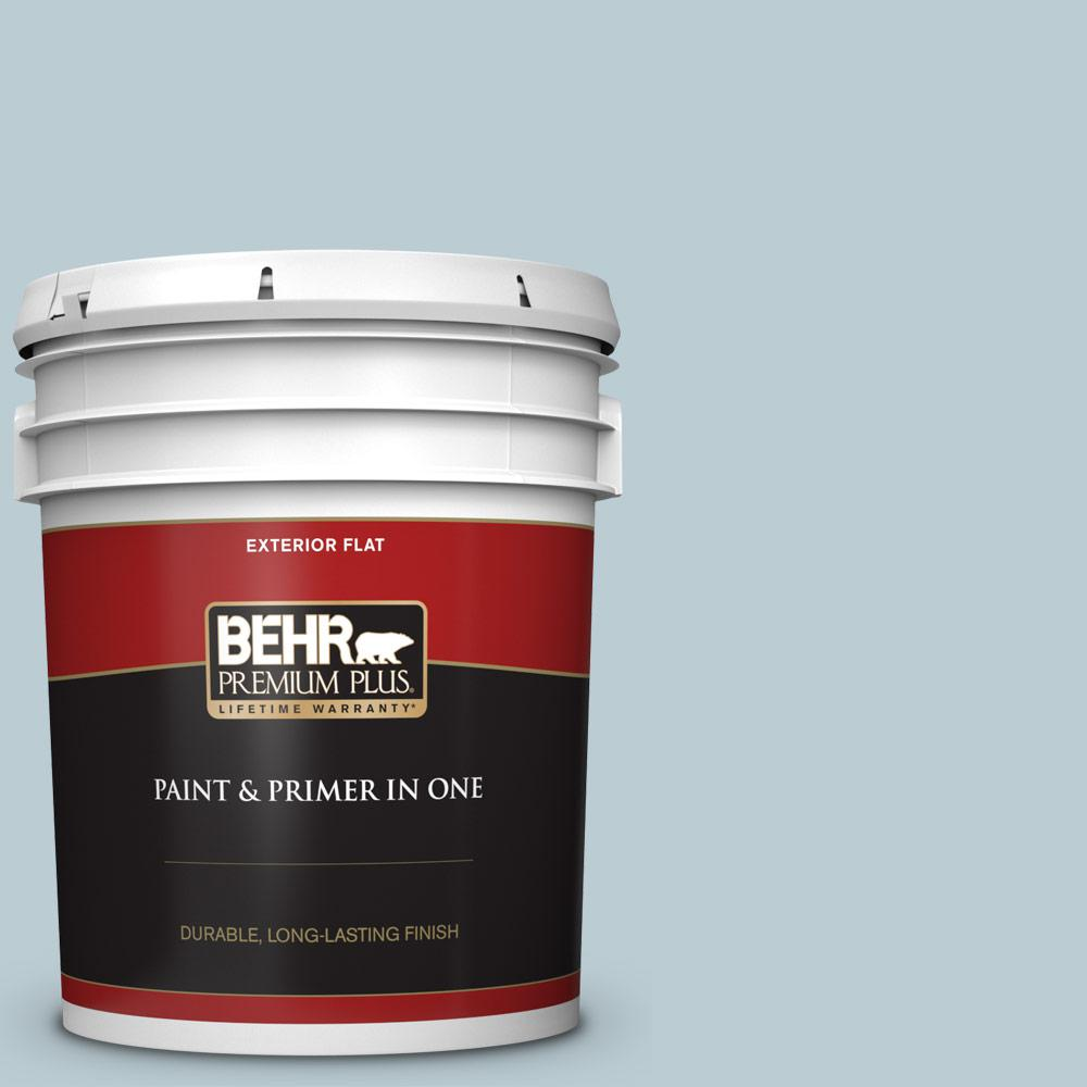 5 gal. #540E-2 Cloudy Day Flat Exterior Paint and Primer in One