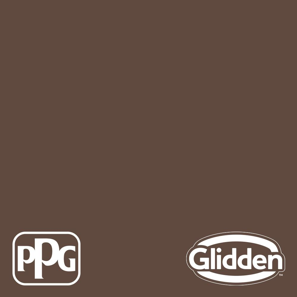 5 gal. PPG1075-7 Fudge Truffle Flat Exterior Latex Paint