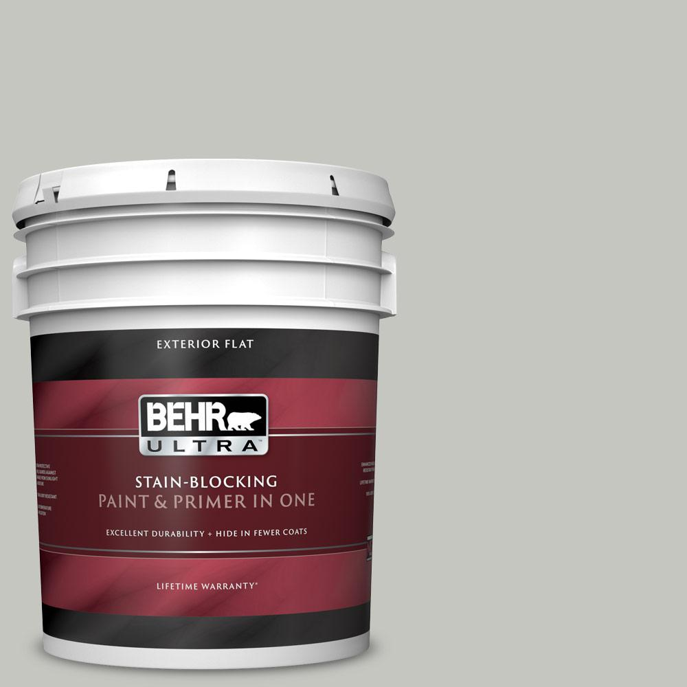 5 gal. #PPU24-16 Titanium Flat Exterior Paint and Primer in One