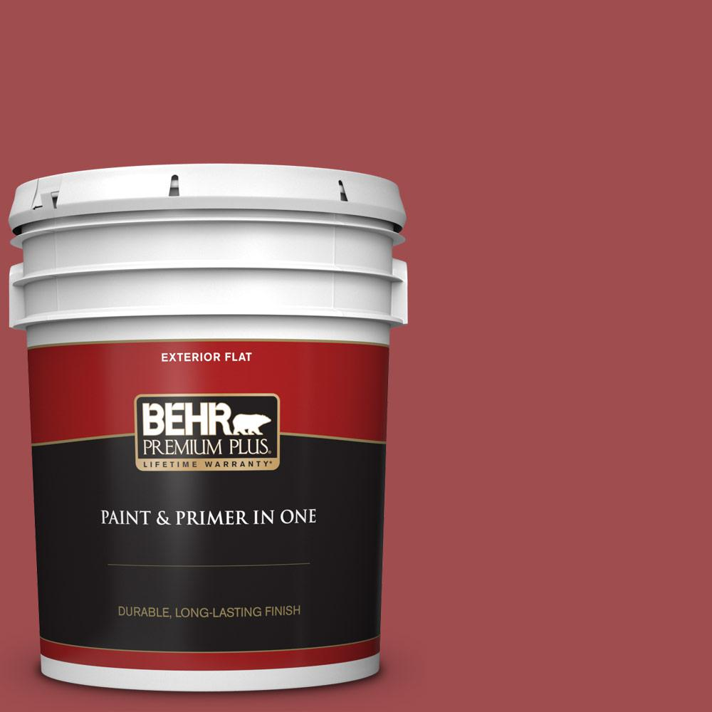 5 gal. #M150-7 Sweet Cherry Flat Exterior Paint and Primer in One