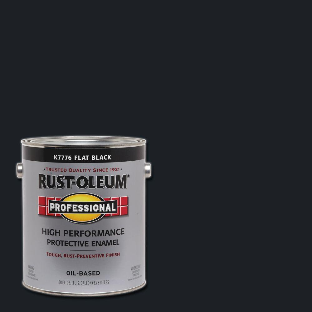 1 gal. High Performance Protective Enamel Flat Black Oil-Based Interior/Exterior Paint (2-Pack)