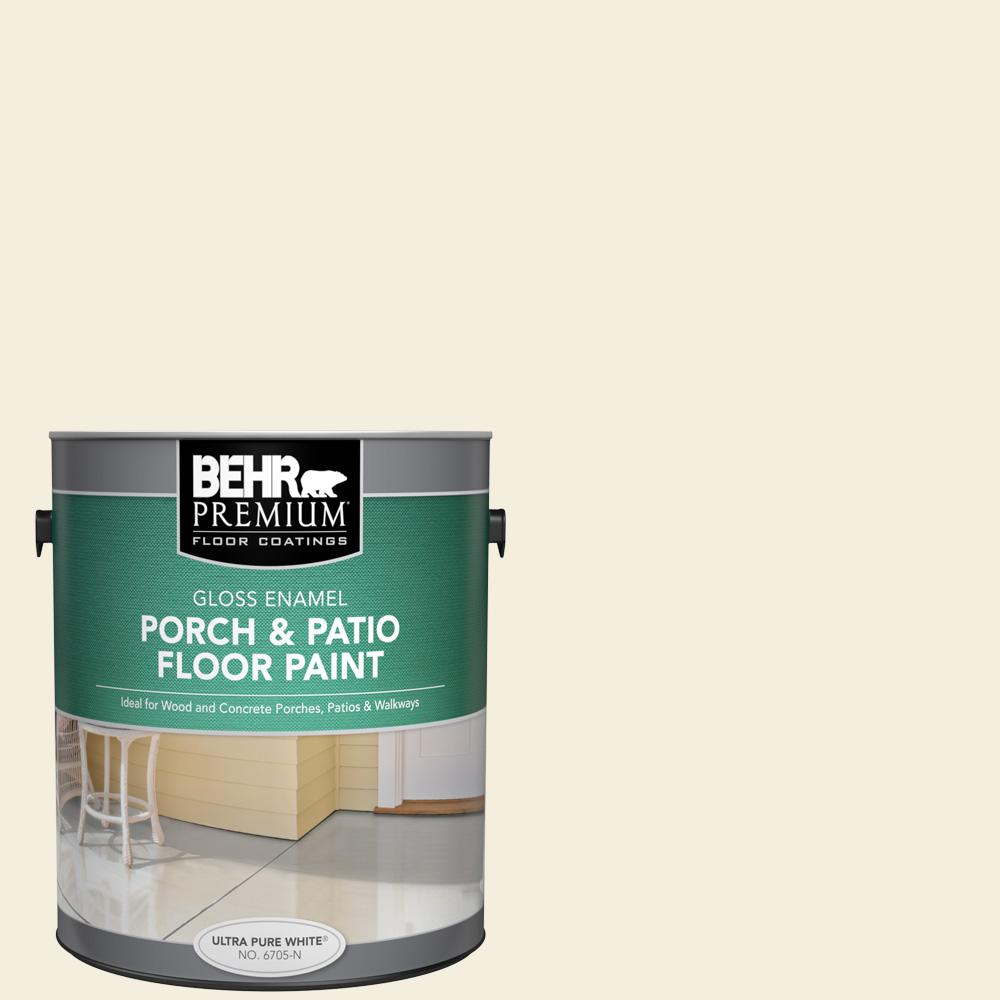1 gal. #W-D-300 Eggshell Cream Gloss Enamel Interior/Exterior Porch and Patio Floor Paint