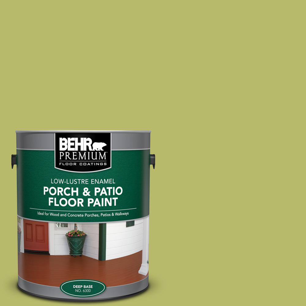 1 gal. #P360-5 Citrus Peel Low-Lustre Enamel Interior/Exterior Porch and Patio Floor Paint