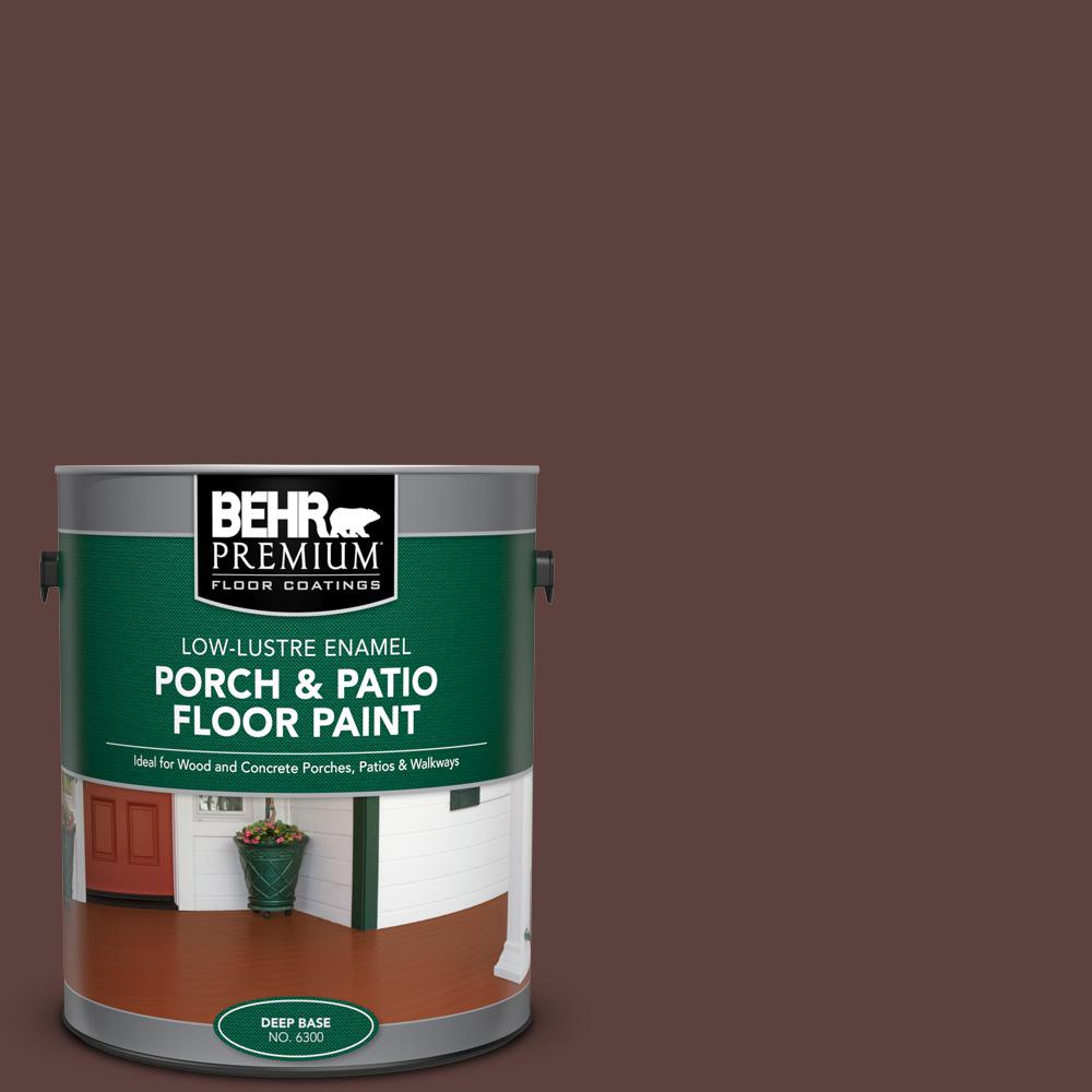 1 gal. #710B-7 Rich Mahogany Low-Lustre Enamel Interior/Exterior Porch and Patio Floor Paint