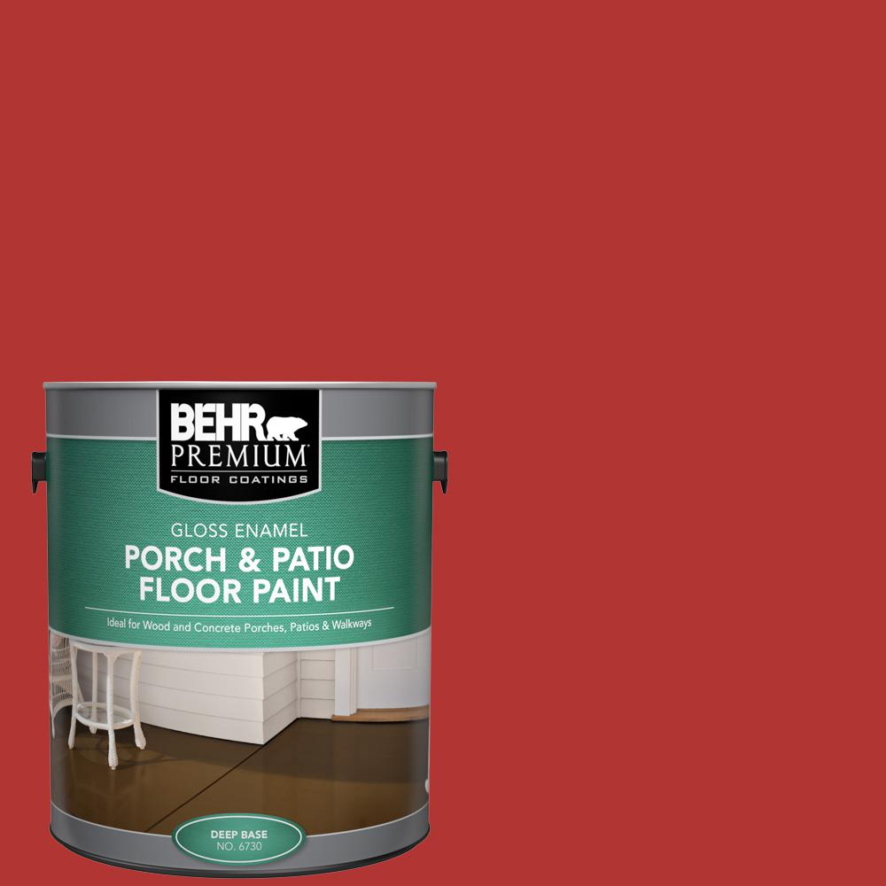 1 gal. #170B-7 Red Tomato Gloss Enamel Interior/Exterior Porch and Patio Floor Paint