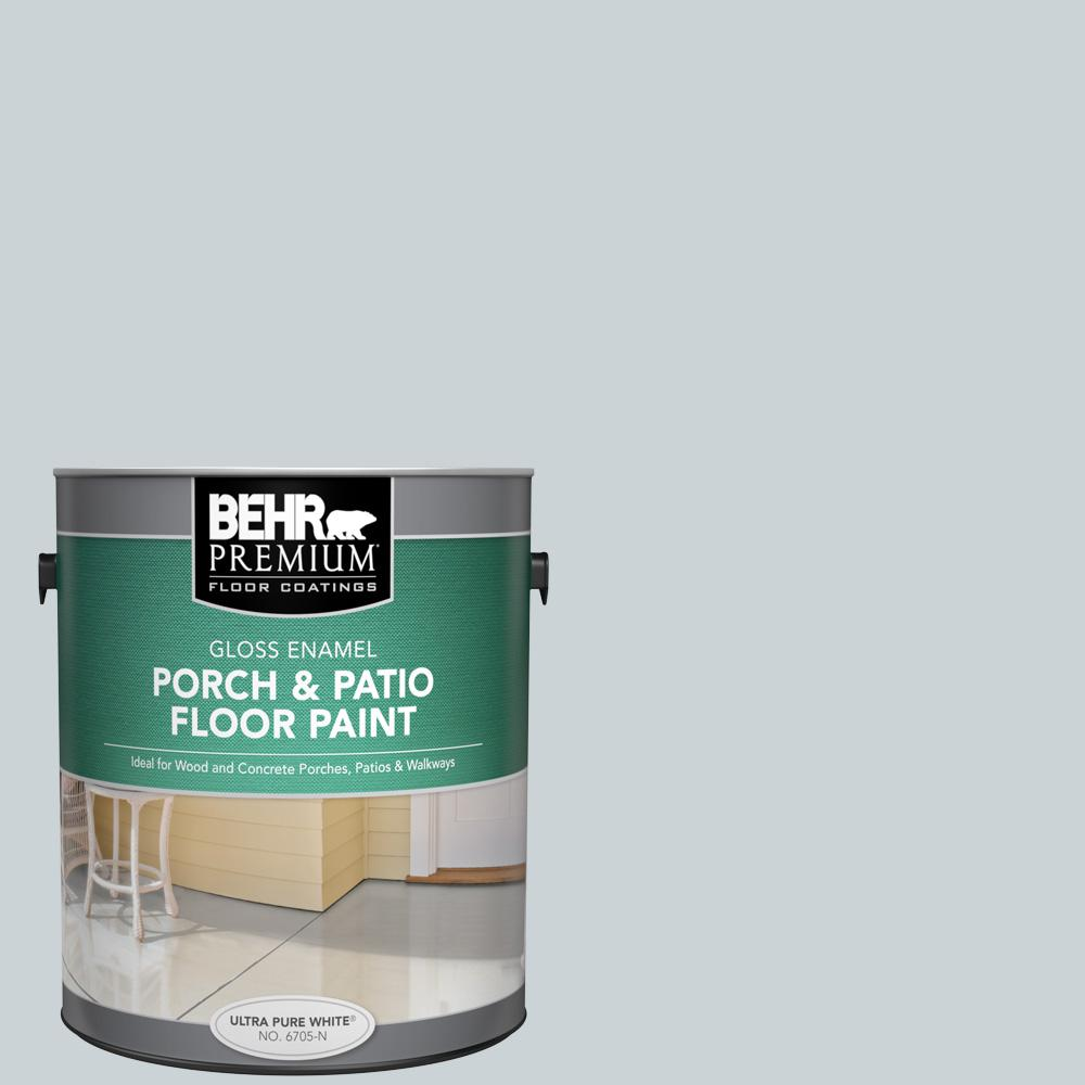 1 gal. #N470-1 Ash Blue Gloss Enamel Interior/Exterior Porch and Patio Floor Paint