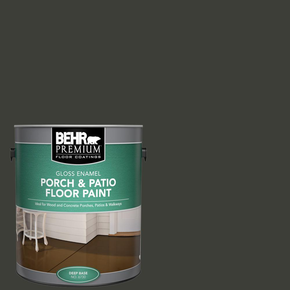 1 gal. #PFC-75 Tar Black Gloss Enamel Interior/Exterior Porch and Patio Floor Paint