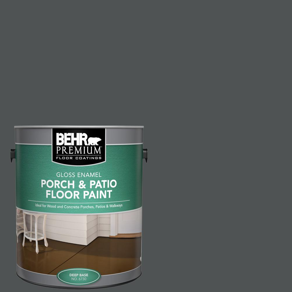 1 gal. #PPU25-01 Carbon Copy Gloss Enamel Interior/Exterior Porch and Patio Floor Paint