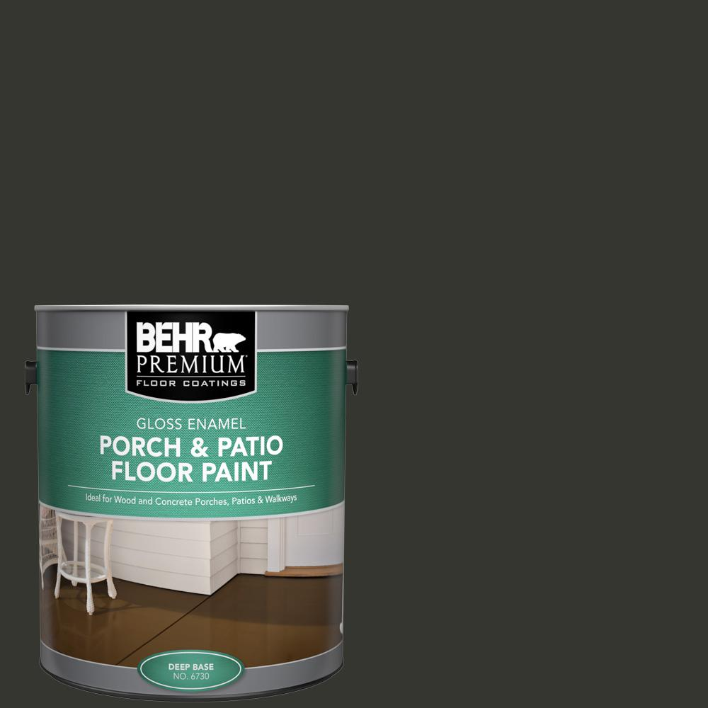 1 gal. #PPF-59 Raven Black Gloss Enamel Interior/Exterior Porch and Patio Floor Paint