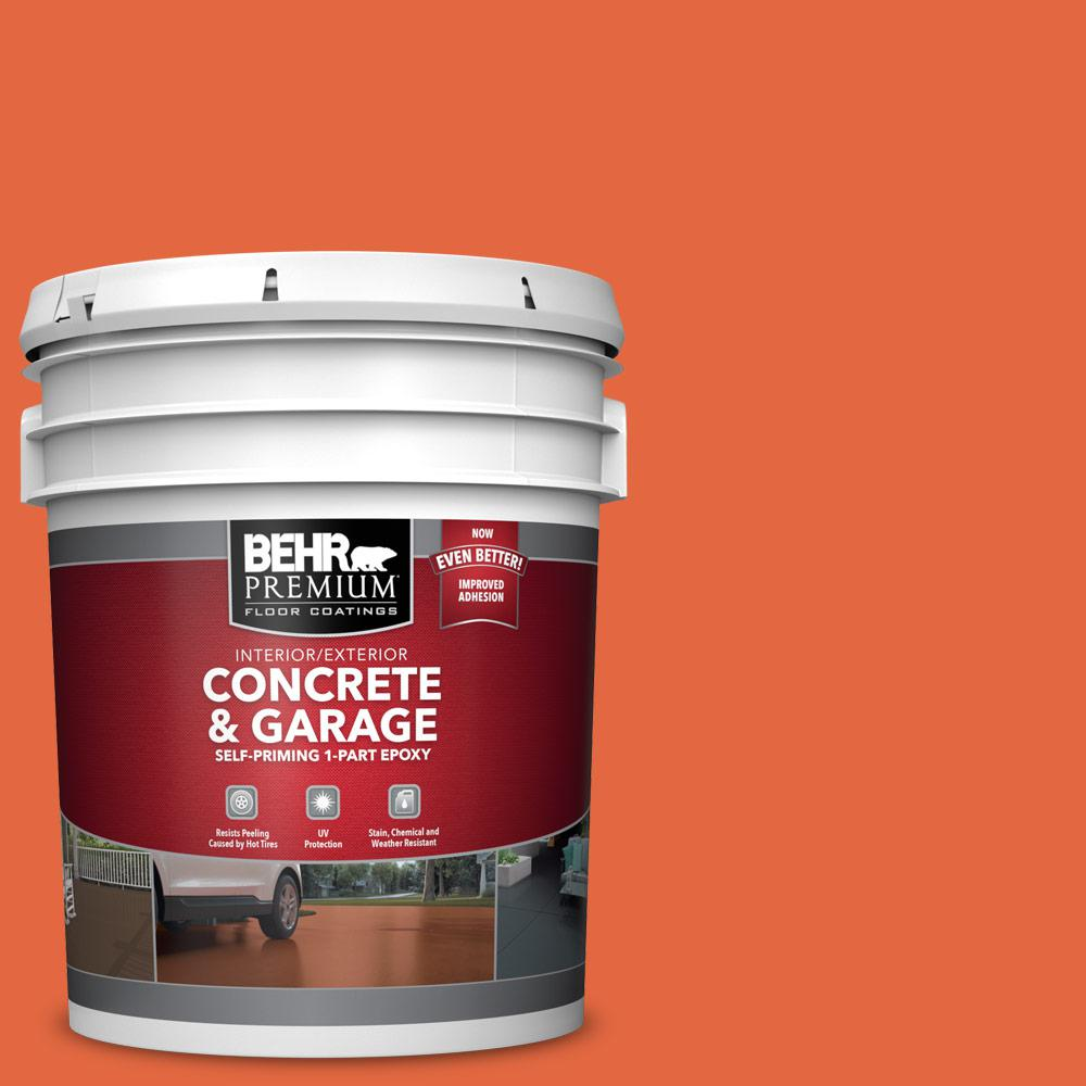 5 gal. #P190-6 Emergency Zone 1-Part Epoxy Satin Interior/Exterior Concrete and Garage Floor Paint