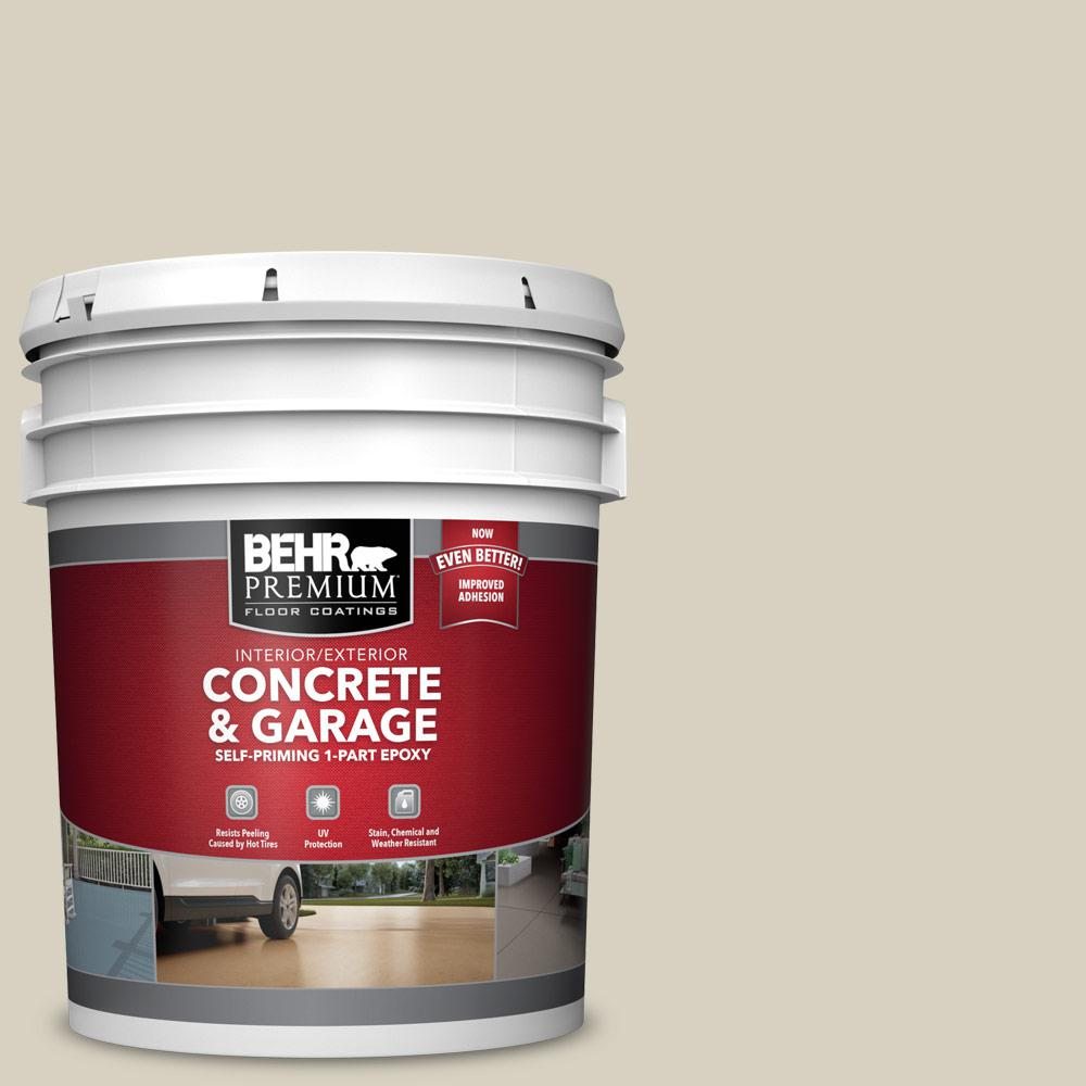 5 gal. #PPF-14 Traditional Tan 1-Part Epoxy Satin Interior/Exterior Concrete and Garage Floor Paint