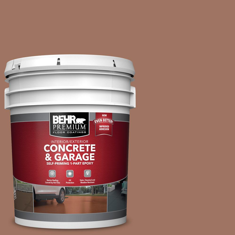5 gal. #PFC-14 Iron Ore 1-Part Epoxy Satin Interior/Exterior Concrete and Garage Floor Paint