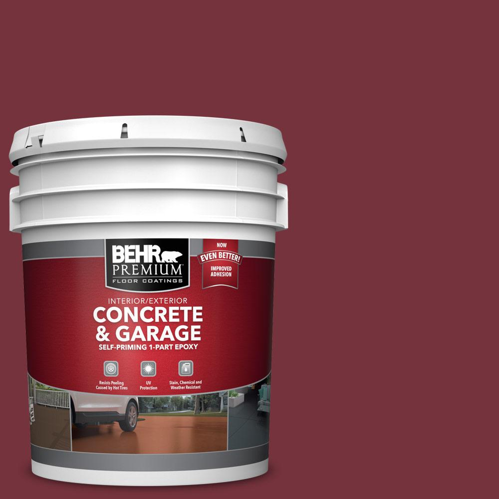 5 gal. #PFC-04 Tile Red 1-Part Epoxy Satin Interior/Exterior Concrete and Garage Floor Paint