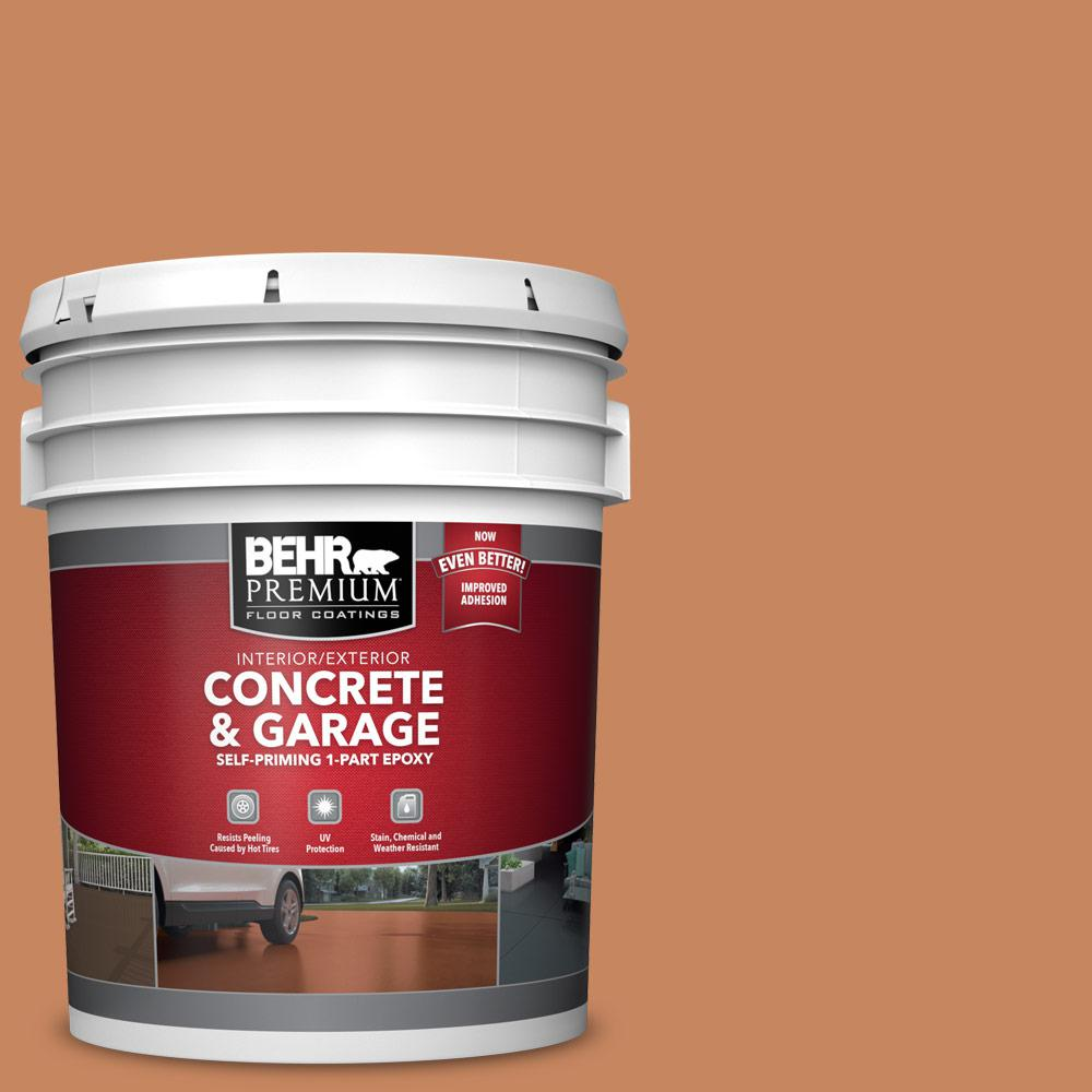 5 gal. #PFC-17 Rusty Orange 1-Part Epoxy Satin Interior/Exterior Concrete and Garage Floor Paint