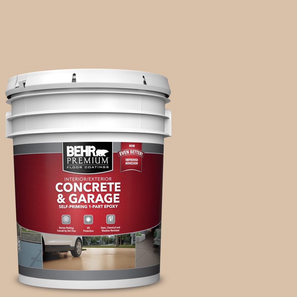5 gal. #S240-3 Ash Blonde 1-Part Epoxy Satin Interior/Exterior Concrete and Garage Floor Paint
