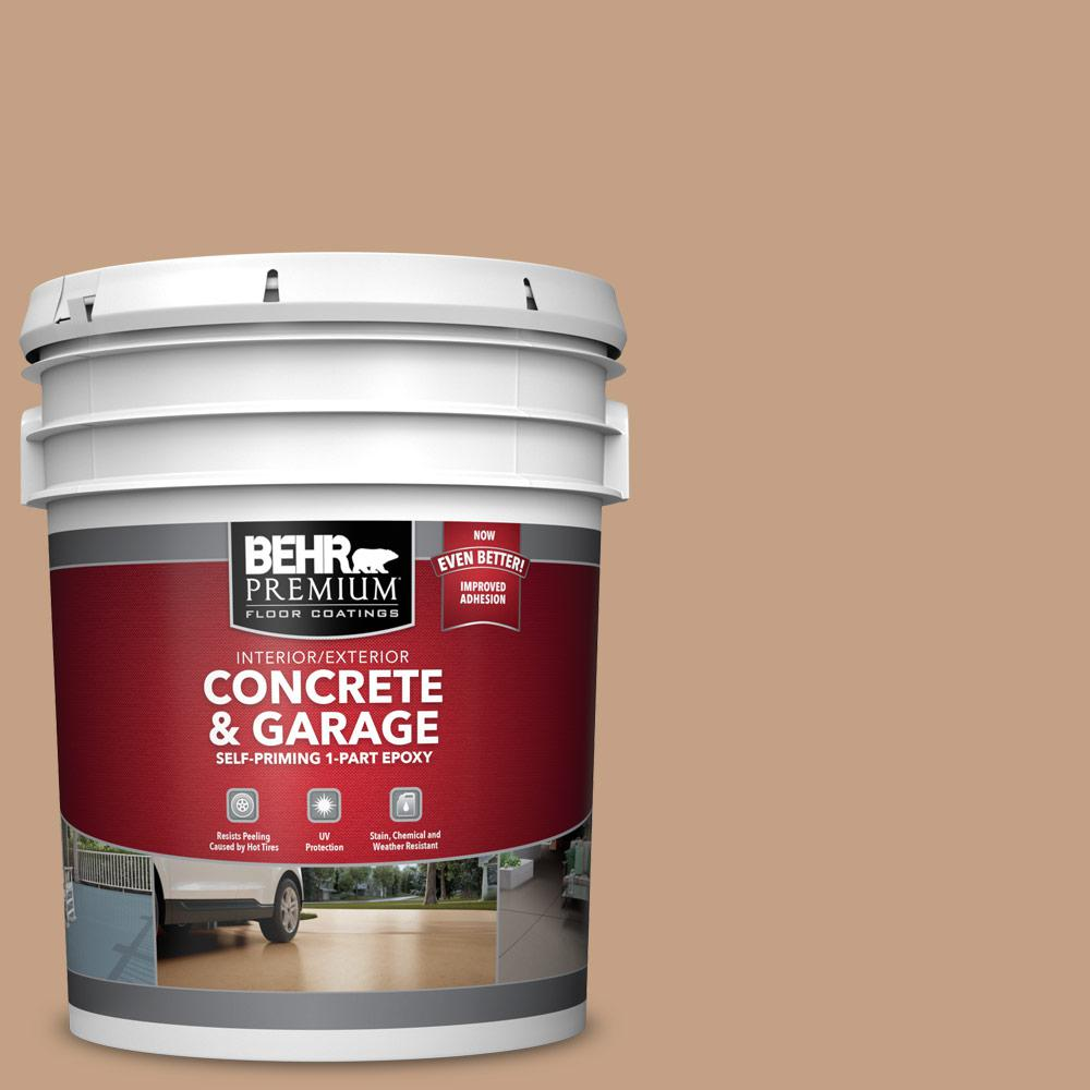 5 gal. #S240-4 Pacific Bluffs 1-Part Epoxy Satin Interior/Exterior Concrete and Garage Floor Paint