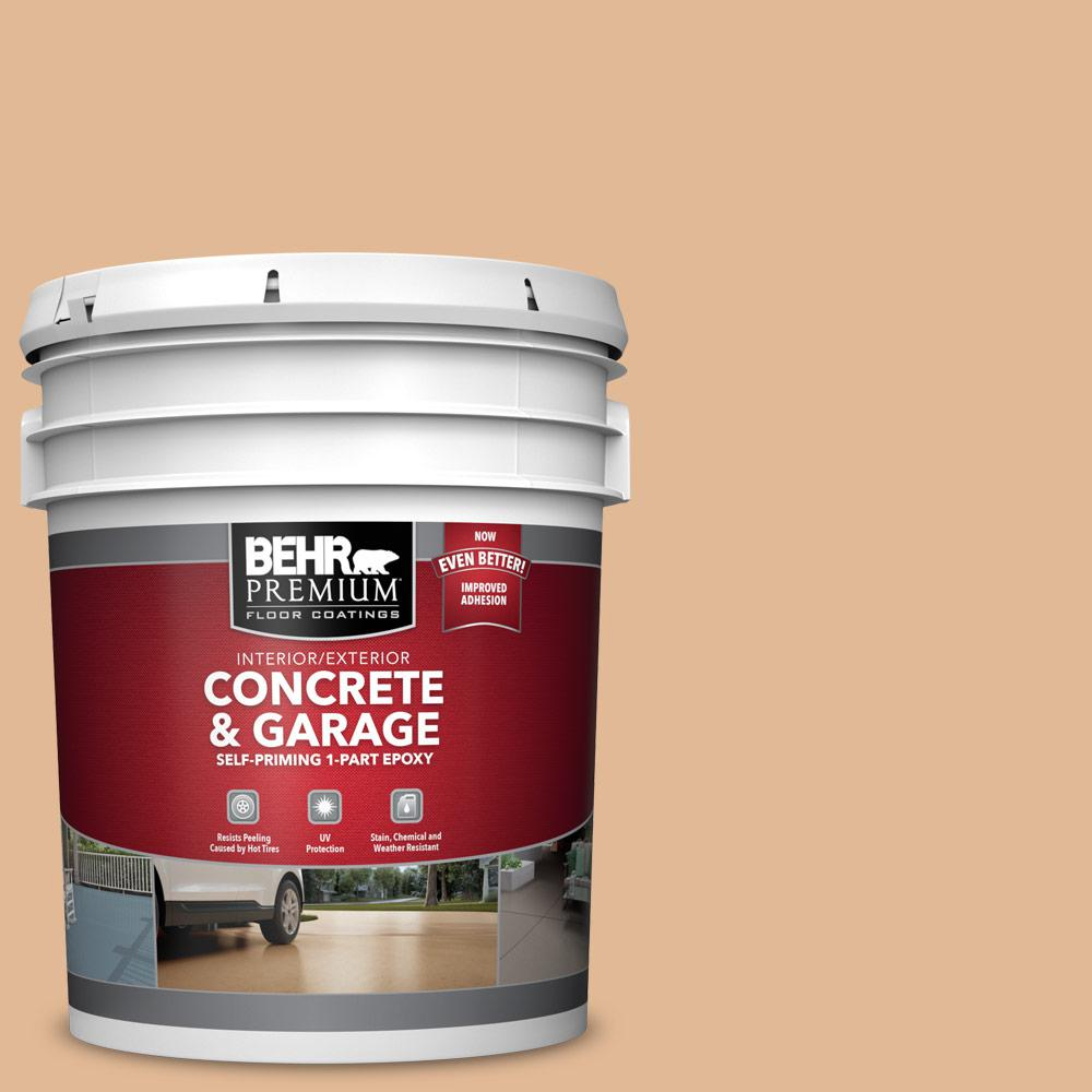 5 gal. #S250-3 Honey Nougat 1-Part Epoxy Satin Interior/Exterior Concrete and Garage Floor Paint