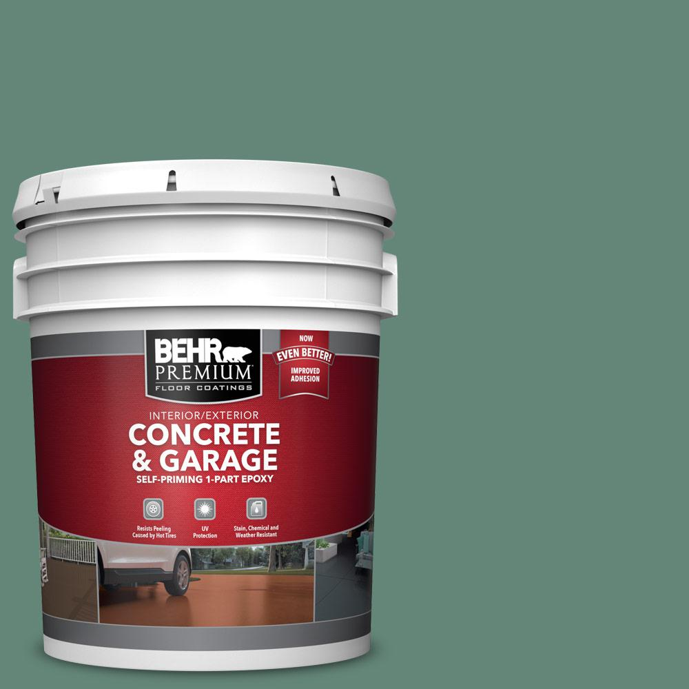 5 gal. #PFC-44 Green Adirondack 1-Part Epoxy Satin Interior/Exterior Concrete and Garage Floor Paint