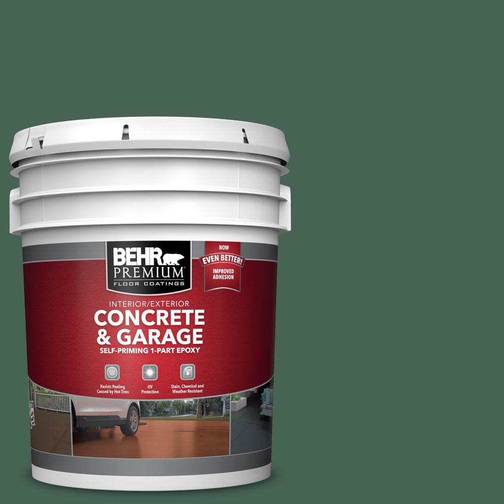 5 gal. #PFC-40 Green 1-Part Epoxy Satin Interior/Exterior Concrete and Garage Floor Paint